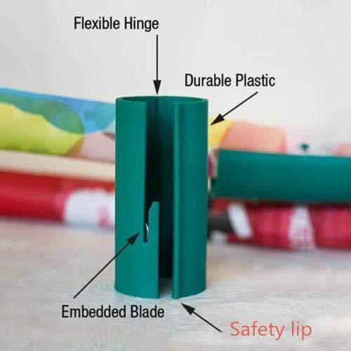 KEHUASHINA Einwickelpapier-Cutter Schiebe-Papierrollen-Cutter schneidet Geschenk-Papierschneider-Werkzeug