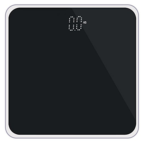 High Precision Digital Bathroom Scale,Basde Bathroom Scales Digital Weight with Measure Accurate Weight and Round Corner Design,Oversized Digital Weight Scale Display (Black) by Basde