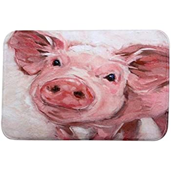 Rumas Home Decor Pig Personalized Rug Carpet Bedroom Bathroom Floor Mat  40x60cm