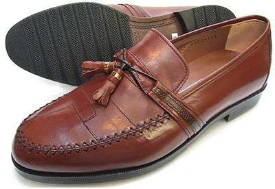 Veneziano カンガルー革 タッセルスリップオン ビジネスシューズ 茶色[メンズ革靴紳士靴/小さいサイズ(スモールサイズ)24cm(24.0cm)あり] B0751ZZZW6 24.5 cm