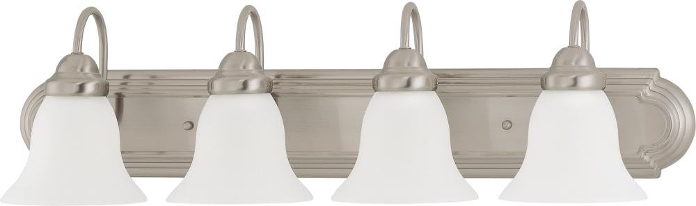 Nuvo Gothamシャンデリア 4-Light 60/3281 1 B003680VZM Brushed Nickel / Frosted Glass|4ライト バニティー Brushed Nickel / Frosted Glass