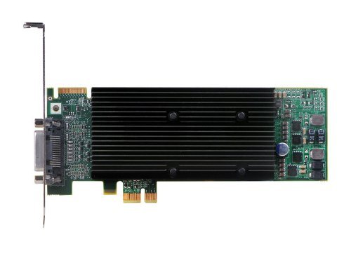 Matrox Video Card M9120-E512LAU1F Plus Low Profile/ATX PCI-Express x1 512MB DDR2 DualHead RoHS and WEEE Electronic Consumer Electronics