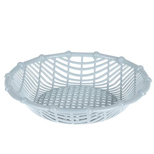 - AdaAda Practical Fruit Basket Snack Storage Basket Living Room Plastic Fruit Plate Blue