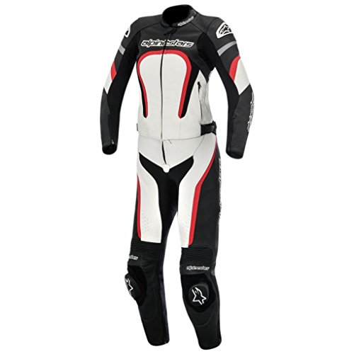 Alpinestars Stella Motegi 2 Piece Womens Leather Motorcycle Suit - Black/Red - 48