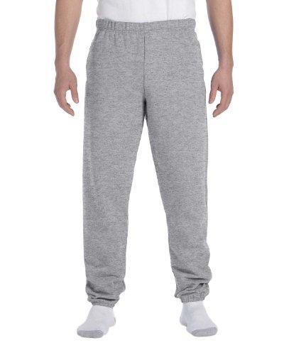 Jerzees Men's Elastic Waistband Fleece Sweatpant, Oxford, Large ()
