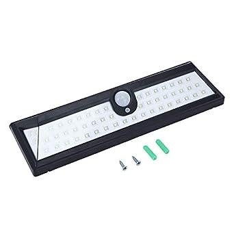 Newgrees panel solar de silicio monocristalino lámpara sensor solar de la pared 54 LED lámpara de movimiento: Amazon.es: Iluminación