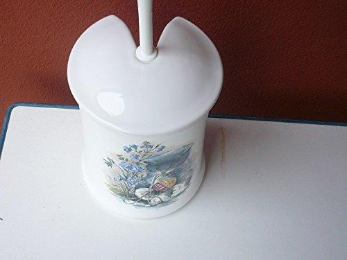 Wc Garnitur Aus Keramik Dekor Weiß Mit Druck Katze Hergestellt In