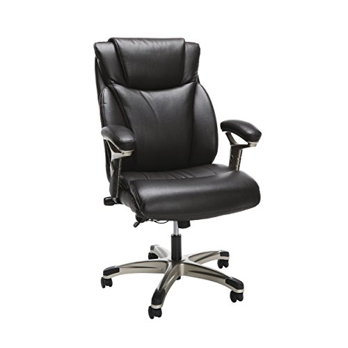 Essentials by OFM OFM Essentials Series Ergonomic Executive Bonded Leather Office Chair, in Brown (ESS-6046-BRN),