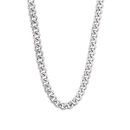 - Verona Jewelers 6.5MM Italian 925 Sterling Silver Classic Curb Cuban Chain for Men- 8