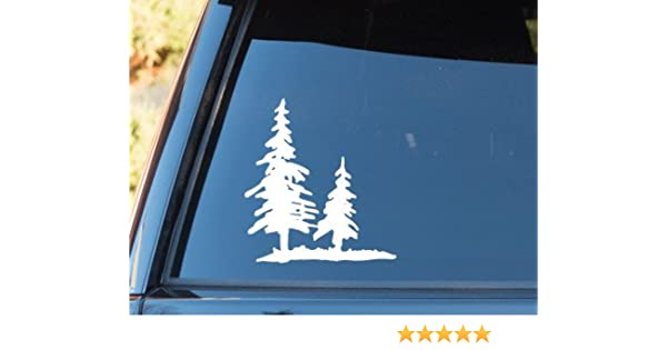 Vinyl Tree Forest Graphic set Custom Door Stickers Car Truck RV woods decal JDM