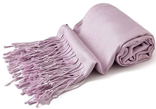 CJ Apparel Light Purple Solid Color Design Shawl Scarf Wrap Pashmina Seconds NEW