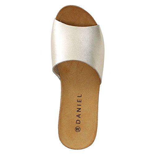 Leder Plain Gold Tavernola Gold Metalic Wedge Daniel Mule 5wHnUE