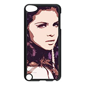 Custom Cover Case YU-TH45893 for Ipod Touch 5 w/ Selena Gomez by Yu-TiHu(R)