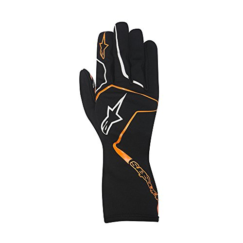Alpinestars 3552717-156-L YTH TECH 1-K RACE GLOVES, BLACK/ORANGE FLUORESCENT, SIZE L