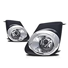 Premium 2pc Fog Lights Fit 11-12 Toyota Corolla Fog Lights - Clear Lens (Wiring Kit Included) - Light bulb type H11 12V 55W. (1 Pair includes both Driver & Passenger Sides.)