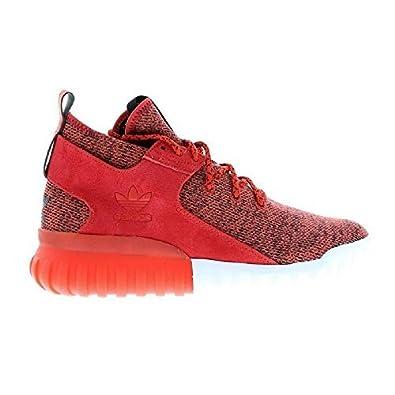 Rouge Hommes Suédé Montantes Baskets Tubulaire Textile X Cuir Adidas lKc5F3TJu1