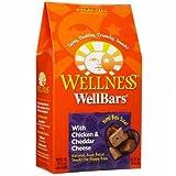 Wellness Wellbars Crunchy Wheat Free Natural Dog Treats, Chicken & Cheddar, 20-Ounce Box