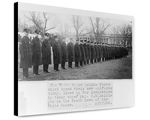 ClassicPix Canvas Print 12x15: The White House Police Force Which Doned Sic Their New Uniforms. ()