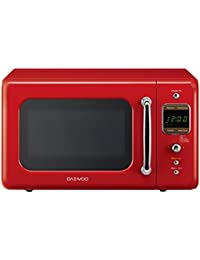 Daewoo KOR-7LRER Retro Microwave Oven, 0.7 cu. ft., 700W, Pure Red