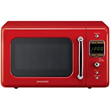 Daewoo - KOR-7LRER - Retro Microwave Oven - 0.7 cu. ft., 700W, Pure Red
