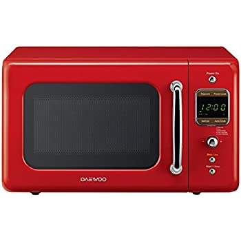 Daewoo Retro Microwave Oven, 0.7 cu. ft., 700W, Pure Red