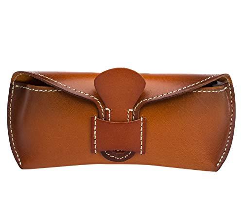 Boleke Unisex Handmade Genuine Leather Eyeglass Case Vintage Sunglasses Eyewear Protective Holder ((Slip in Belt Loop) ()