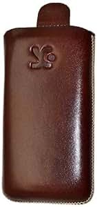 Suncase 33908953 - Funda para Samsung S5560i y GT-S5560i (piel), color marrón