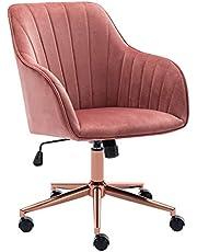 Duhome Kontorsstol, snurrstol, skrivbordsstol med vippmekanism, höjdjusterbar, metallram 8128B-1