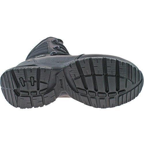 Magnum Lynx 8.0 Stiefel, Seitlicher Reissverschluss, Schwarz - Schwarz, Netz, EU 44