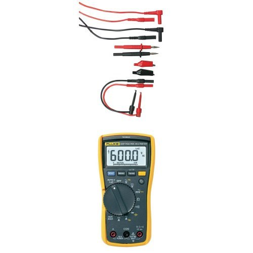 Extech TL809 Electronic Test Lead Kit with Fluke 117 Electricians True RMS Multimeter