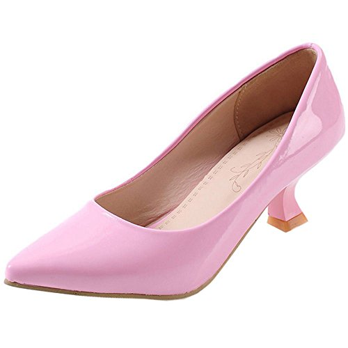 Escarpins Rose Classique Kitten Mode Femme Bureau Talon Coolcept Heel Bas BgRqHF