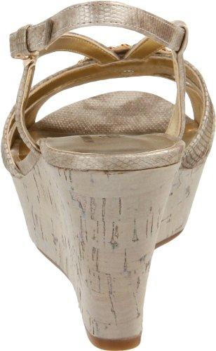 Ak Anne Klein Donna Kassidy Platform Sandalo Oro Chiaro
