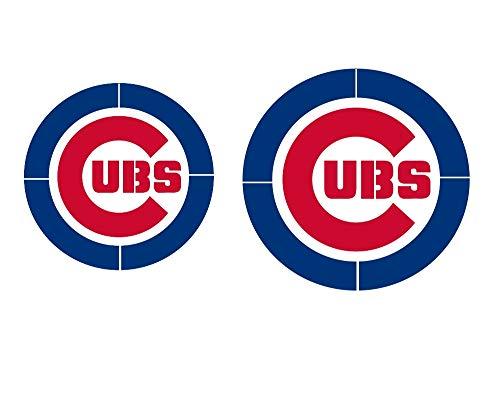 Set of 2 Chicago Cub Baseball Logo Stencils Mylar Sport Stencil