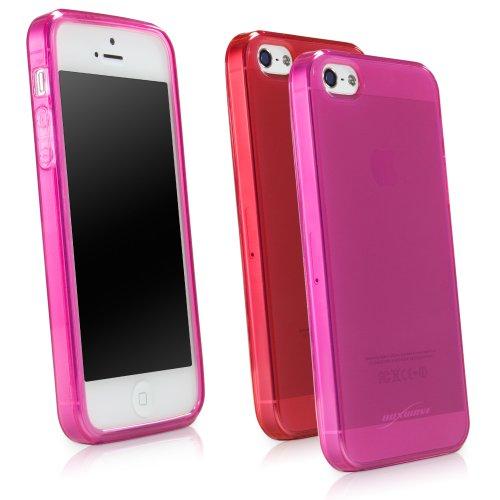 Coque Iphone se, BoxWave® [cristal pur] antidérapant Durable, flexible, transparent pour Apple iPhone se, 5S, 5–Rouge écarlate