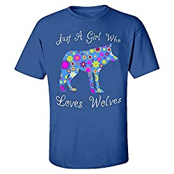 Just A Girl Who Loves Wolves - Kids T-Shirt