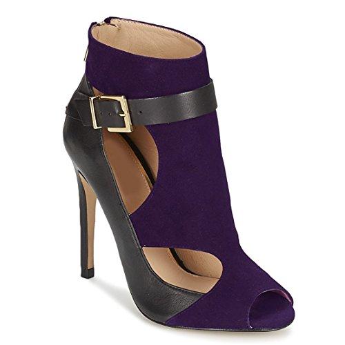 33 et par 11sunshop Cuir en Purple Design LETIZIA Daim 44 EU Model au Escarpin HGilliane q0P0frt