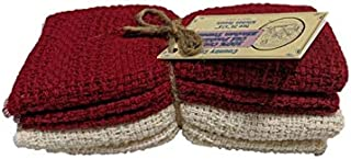product image for Country Cottons 100% Cotton Kitchen Towels - Red/Natural