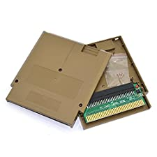 Cinpel Replacement Game Cartridge Shell With Famicom 60 Pin To 72 Pin Converter Adapter Card for Nintendo NES Gold