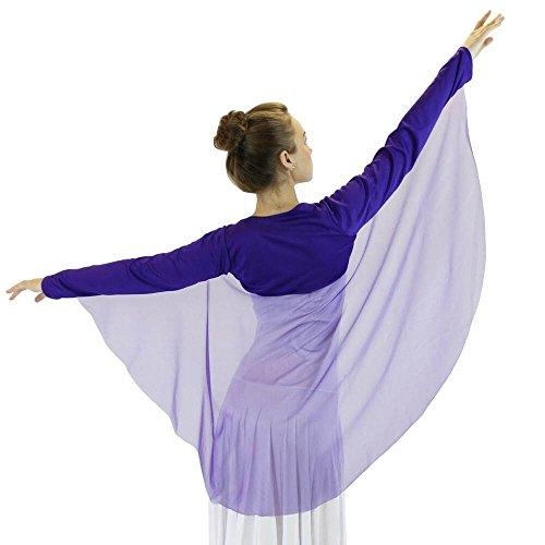 Danzcue Worship Dance Angel Wing Shrug (S-M-Child, Deep Purple)