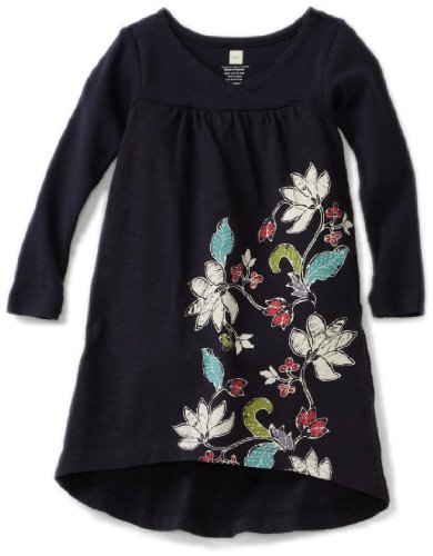 Tea Collection Baby Girls' Magnolia Batik Dress, Indigo, Small