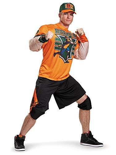 Disguise Men's WWE John Cena Muscle Costume, Orange, -