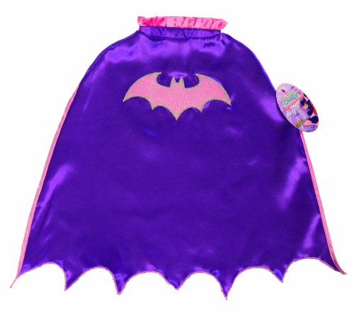 Batgirl Costume Purple - My Super Best Friends Batgirl Cape With Puff Hanger