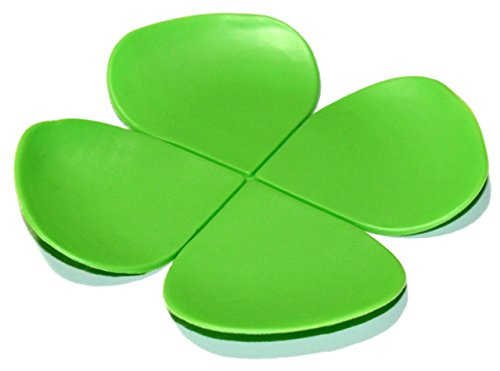 lucore-four-leaf-clover-beer-coasters-lucky-7-pcs-set-silicone-drink-mats