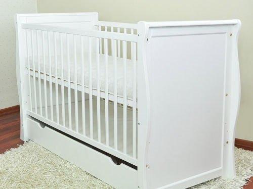 Wei/ß Baby-//Kinderbett Betten//Baby Kinderbett mit Schublade//Junior Bett Schaumstoff gratis nicht Schaumstoff Matratze 120/x 60/schnelle Lieferung