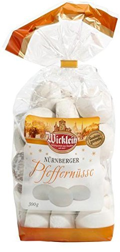 Wicklein Pfeffernusse Gingerbread Cookies Biscuits Nuremberg (4 Bags - 10.5-ounces Each)