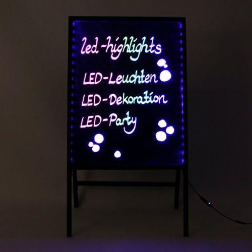 LED-Highlights Deko Leuchtschild Reklame Tafel 80 x 60 cm Fernbedienung 7 Led Farben Leuchttafel Werbeschild 8 Neon Stifte Buchstaben bunt beschreibbar