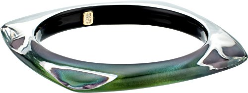 Alexis Bittar Women's Soft Square Bangle Bracelet Deep Jade One Size