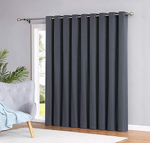 Madison - 100% Blackout Curtains - 84 Inch Long - Newly Innovated - Eco Friendly - Light Weight Fabric with Grommets - Heat and Light Blocking Drapes (1 Patio Panel ()