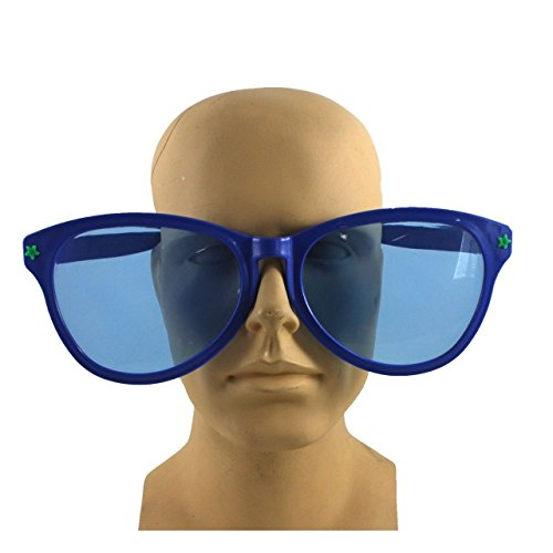 [Jumbo Giant Clown Novelty Sunglasses Glasses Plastic Novelty Costume Huge Frames] (Clown Glasses)