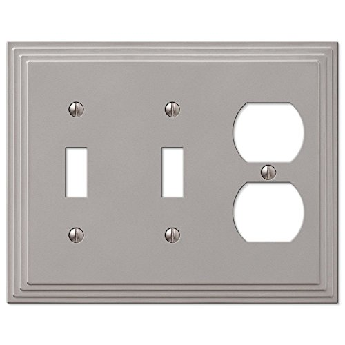 Duplex Outlet Triple Toggle Switchplate - 9